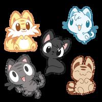 Random Cats by Daieny