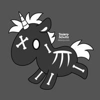 Skeleton Unicorn by Daieny