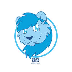 Blue Lion Headshot by Daieny