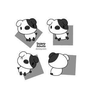 Black and White Doggy