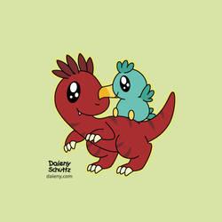 Velociraptor and Dodo