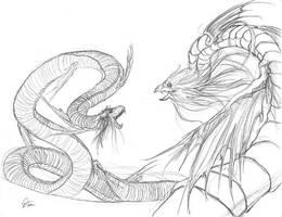 Battle - Touda vs SnakeGod by rubyd
