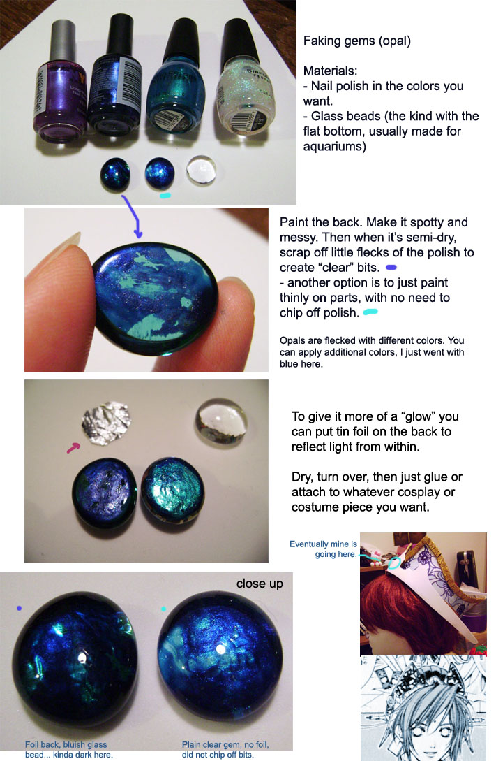 Cosplay tips - faking an Opal by rubyd