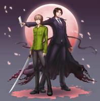 Yami no Matsuei - against the moon by rubyd