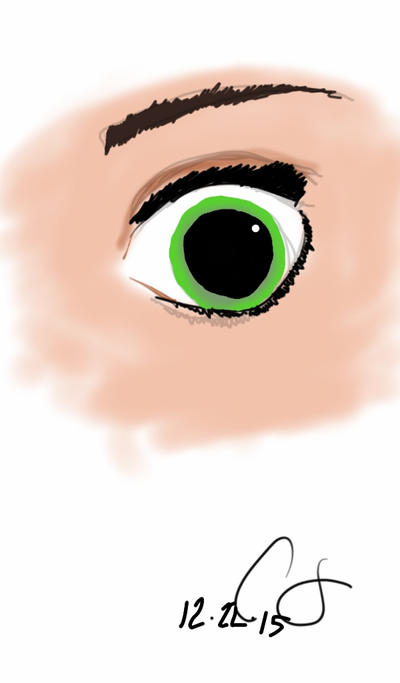 Tangled - Rapunzel eye study by xxitscarriexx