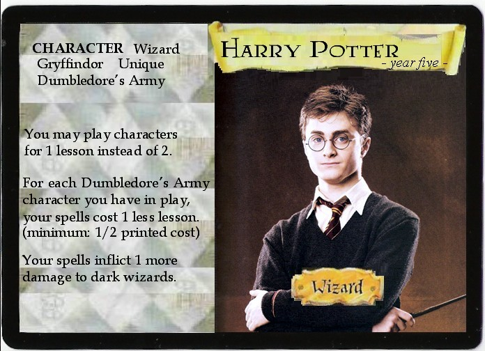 harry potter trading card game rules pdf