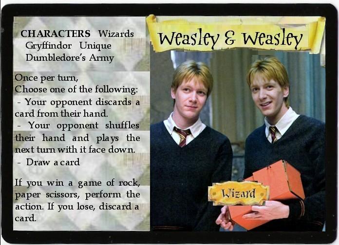 H.P. TCG Weasley Twins - OOTP by FlowersInMidgar