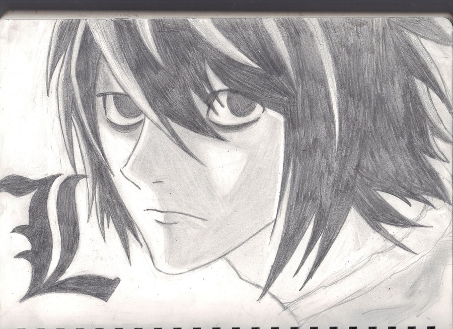 Lawliet Death No...L Death Note Drawing
