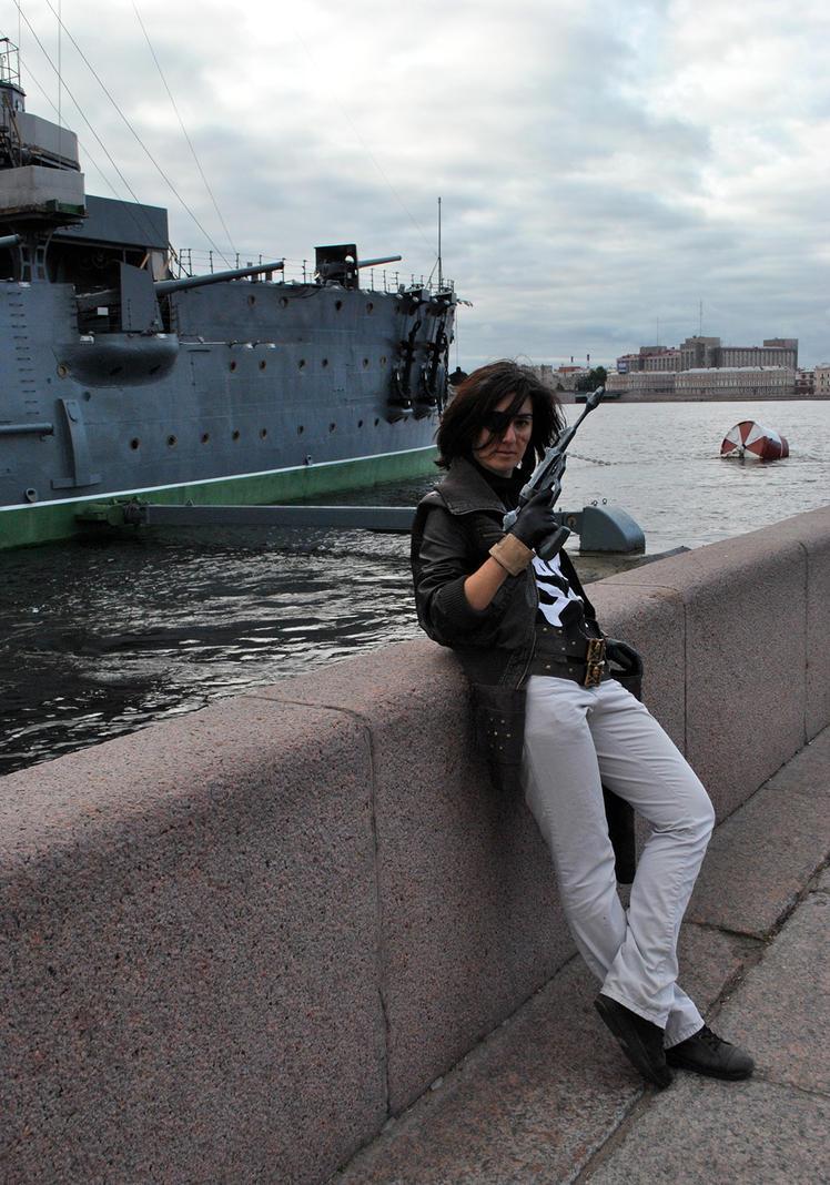 Captain Harlock on vacation) by FemochkO-Ferry
