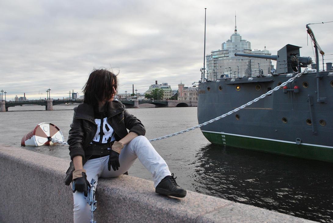 Captain Harlock on vacation by FemochkO-Ferry