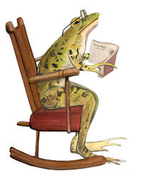 Wise Frog in Rocking Chair