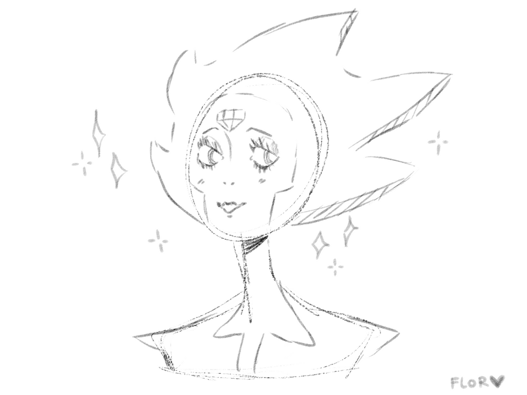 Welp, i'm alive my bois, also i recently saw the new chapter of Steven Universe and OML White Diamond is a goddess so i doodled her!
