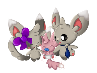 Minccino Family by Chaomaster1