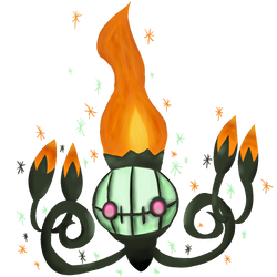 Shiny Chandelure by Chaomaster1