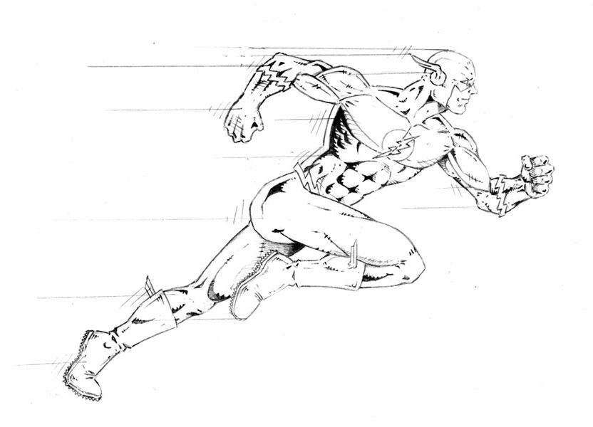 The Flash Line Art : The flash by pacuttus on deviantart