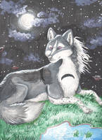 WolflingSilverpaws by JustRach