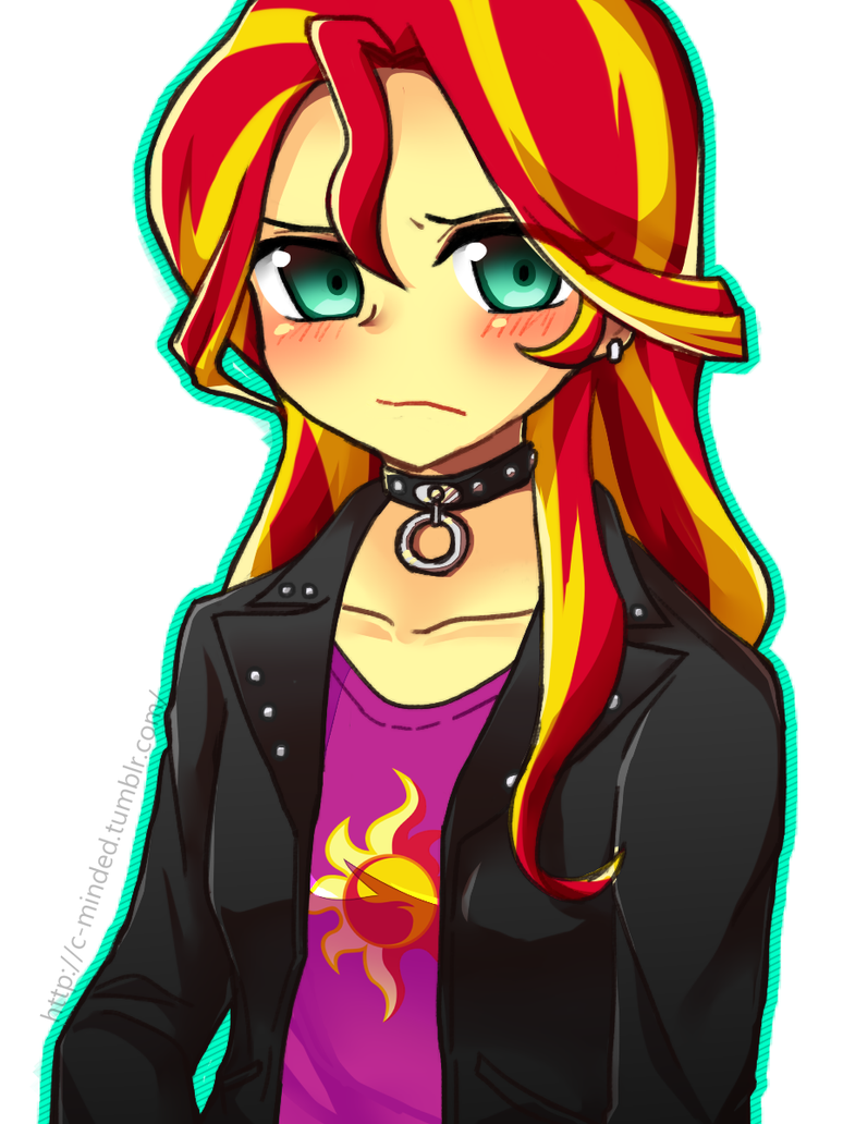 MLP EqG: Sunset Shimmer by 00riko