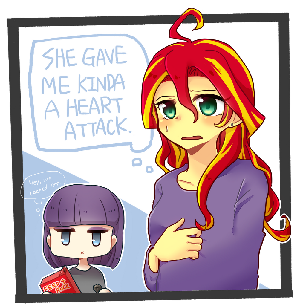 MLP EqG: Sunset Shimmer and Maud Pie by 00riko