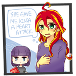 MLP EqG: Sunset Shimmer and Maud Pie