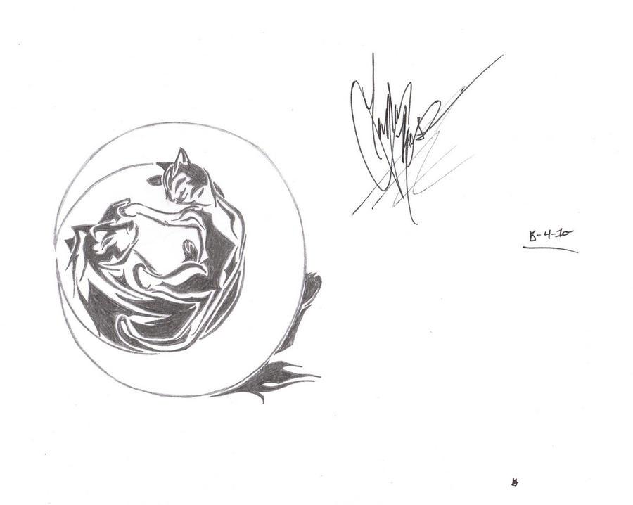 Line Art Tattoo Designs : Cat and wolf tattoo design by sailornose on deviantart