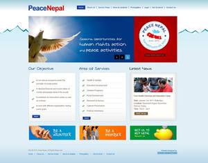 Peace Nepal Web Design
