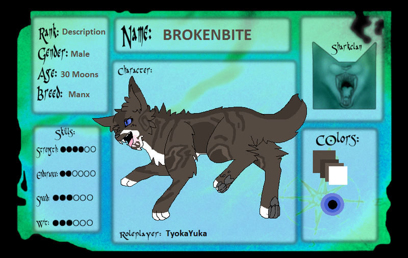 Brokenbite: Sharkclan Application by TyokaYuka