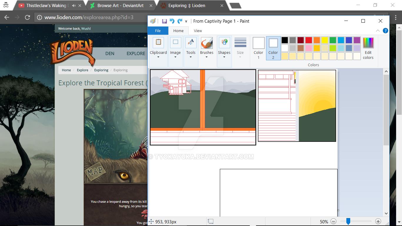 Background Process For 'Captivity' by TyokaYuka