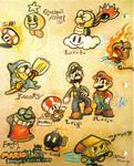 Mario n Luigi RPG3 characters by Smohbitz