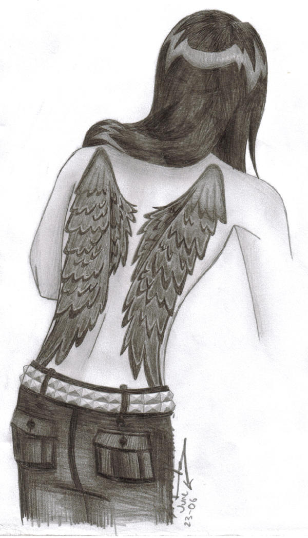 Tattoo Wings Design by