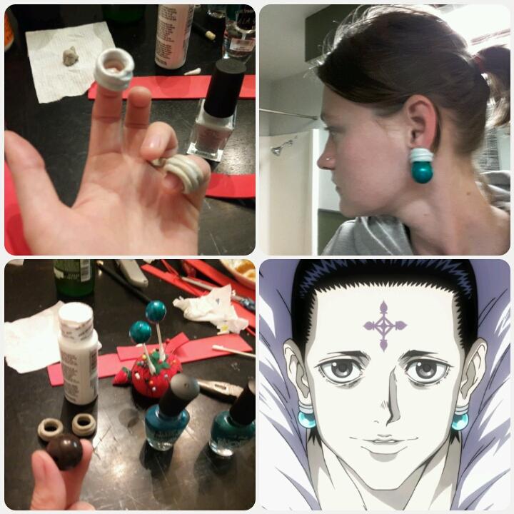 how to make Chrollo Luilifer earrings. by mandychan00