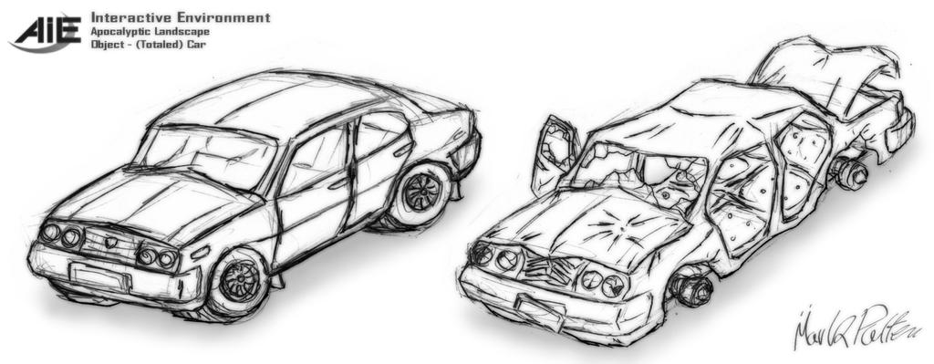 AIE - Car, Sketch by Mark-MrHiDE-Patten on DeviantArt