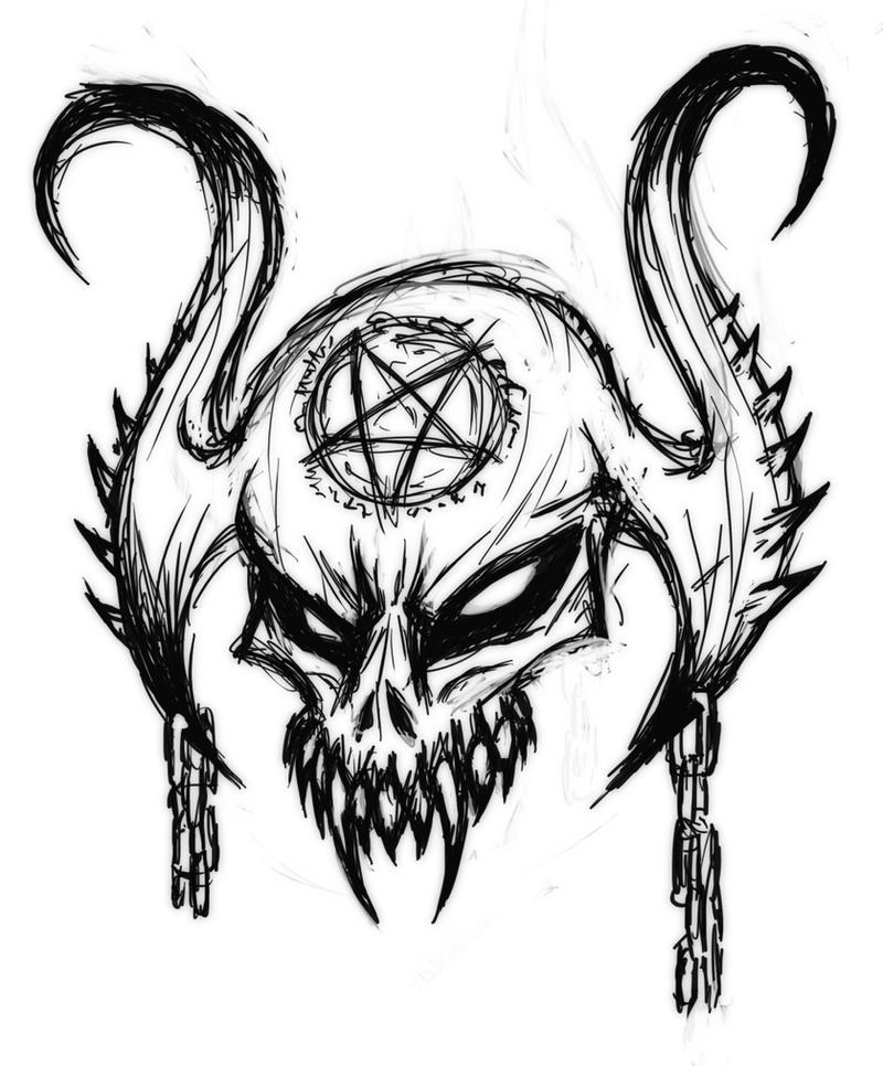 Satanic Skull by Mark-...