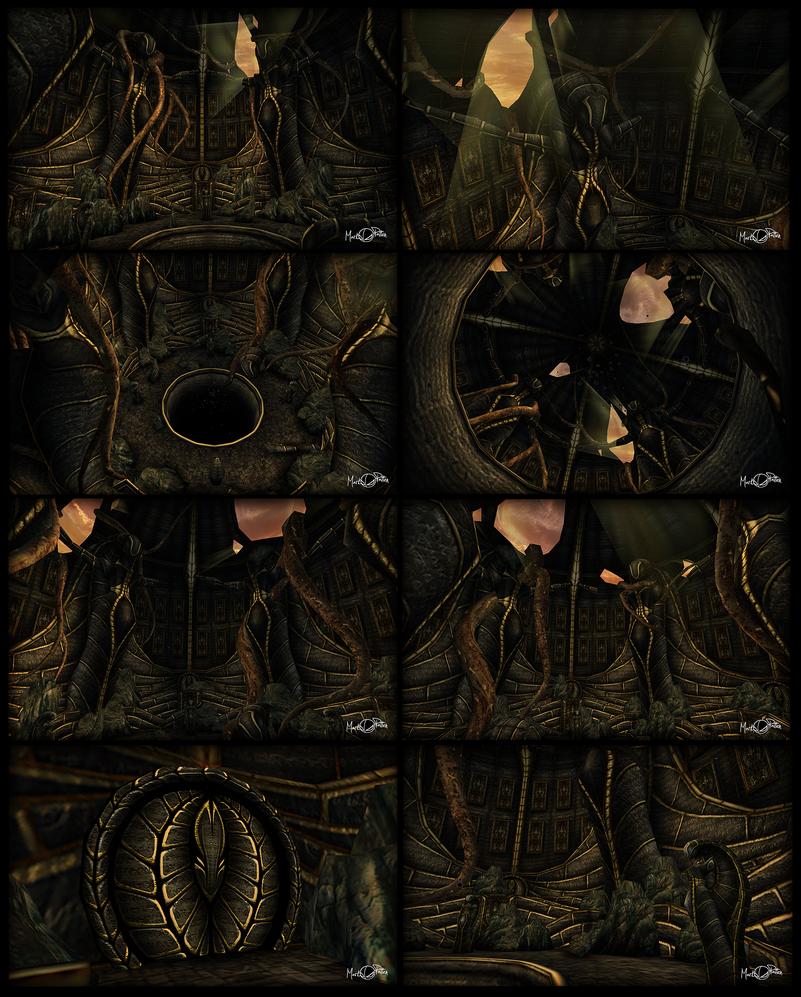 AIE: Alien Temple Crypt by Mark-MrHiDE-Patten