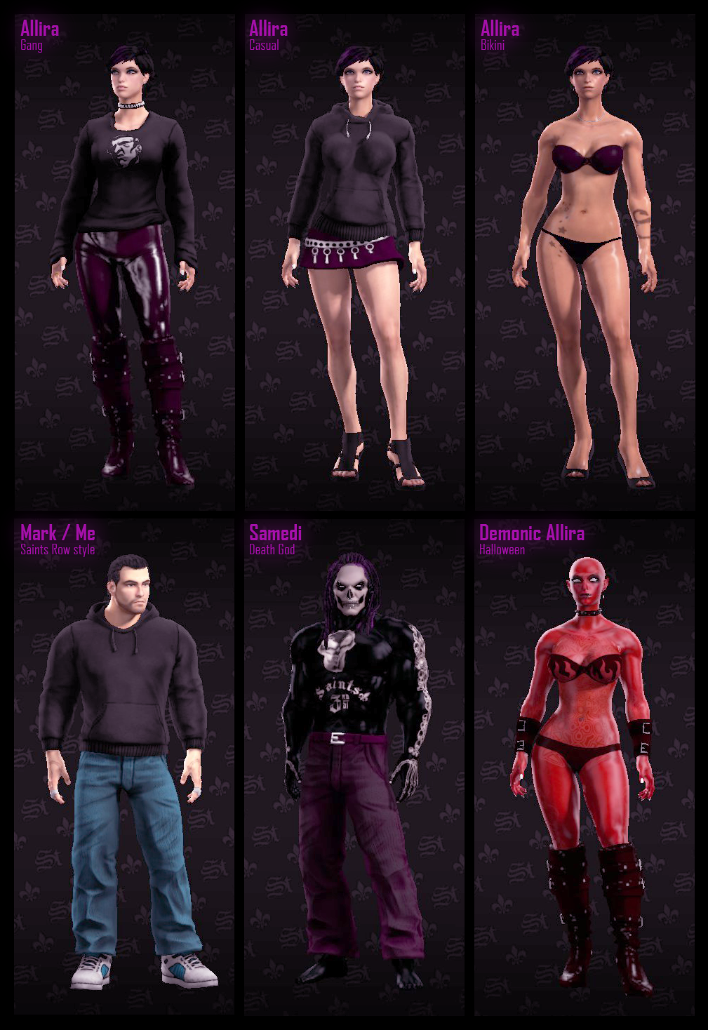 Saints Row 4 Anime Characters : Saints row characters by mark mrhide patten on deviantart