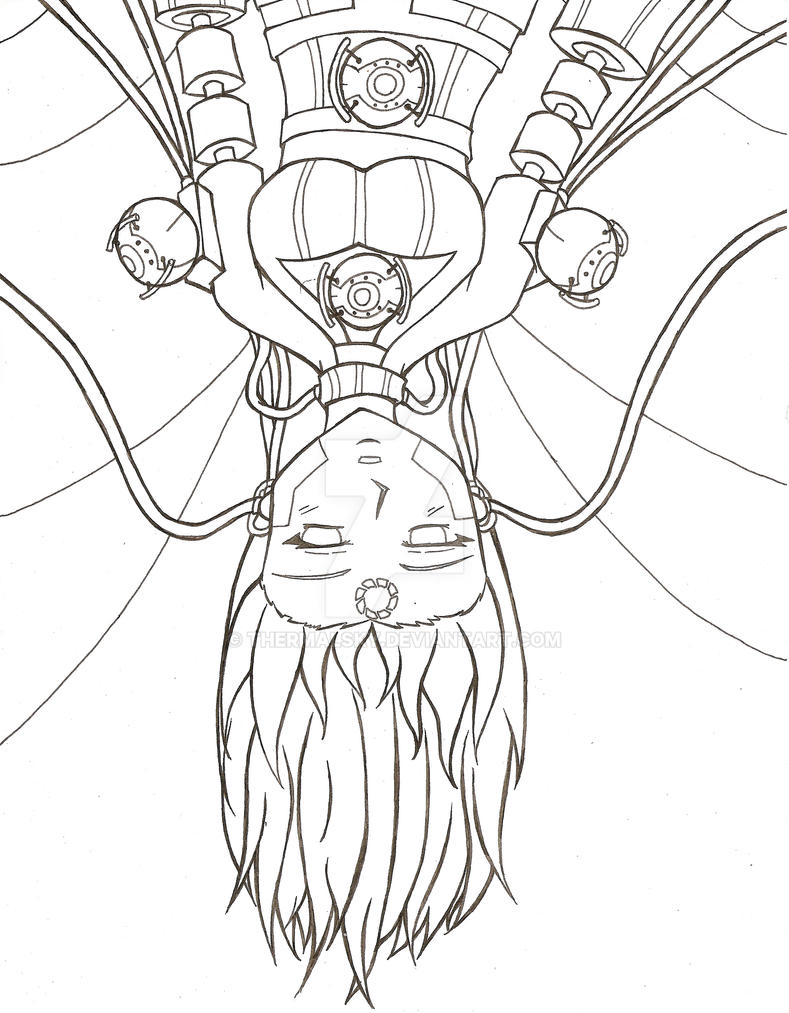 GLaDOS Human Form- WIP by ThermalSky on DeviantArt