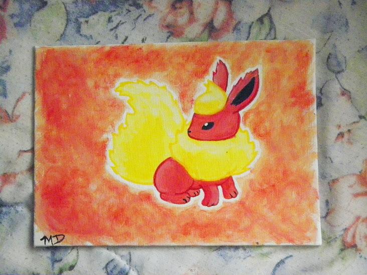 Flareon painting by Sakura-chan4100