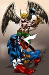 Captain America vs Hawkman