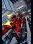 Deadpool Falling
