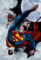 Superman Family by MarcBourcier