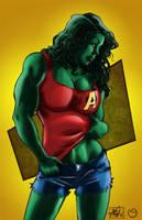 She Hulk Sexy by MarcBourcier