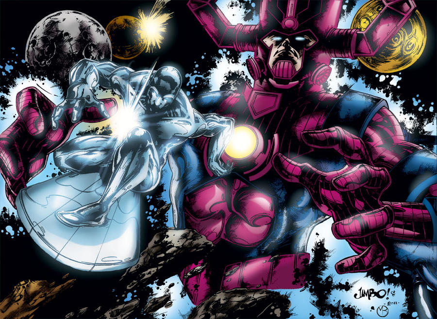 Silver Surfer and Galactus by MarcBourcier on DeviantArt