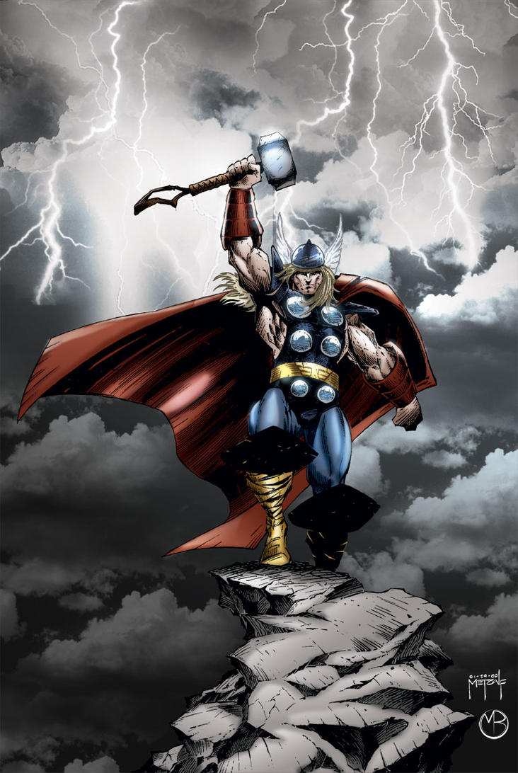 Thundering Thor by MarcBourcier