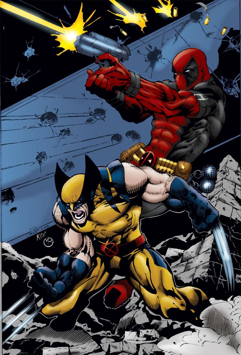 Wolverine Deadpool by MarcBourcier