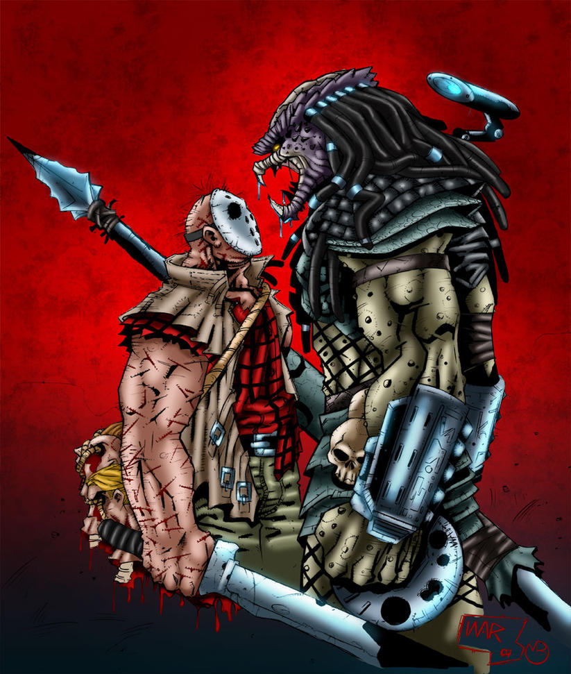Jason vs Predator by MarcBourcier