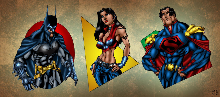 Ultimate JLA: The Big Three by MarcBourcier