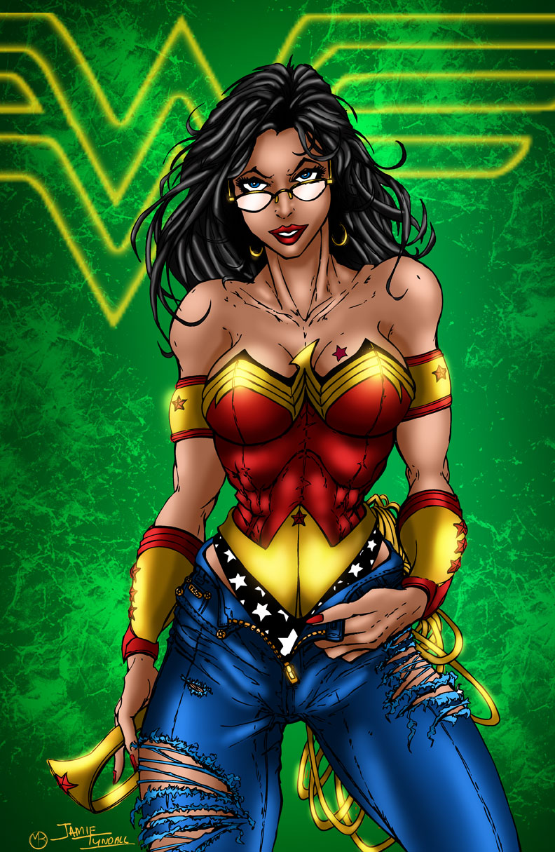Wonder Woman in Jeans Revamped by MarcBourcier