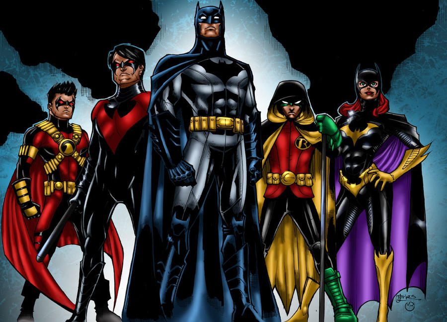 DCNU Bat Family by MarcBourcierYoung Justice Bat Family