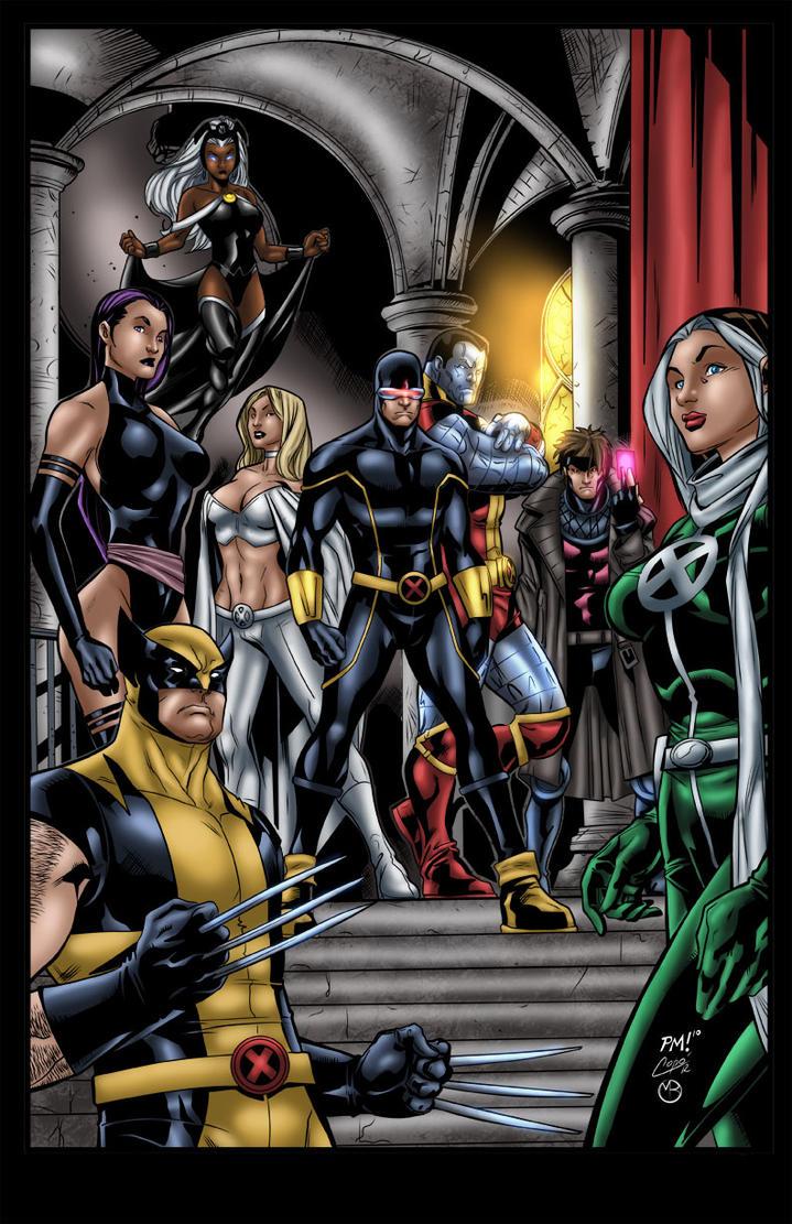 X-Men cover variant by MarcBourcier