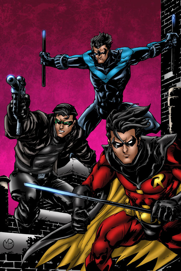 Nightwing Jason Todd And Robin By MarcBourcier