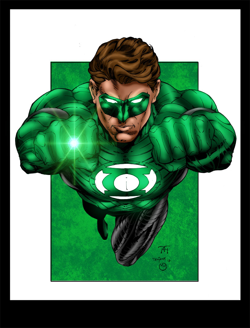 Green Lantern by MarcBourcier